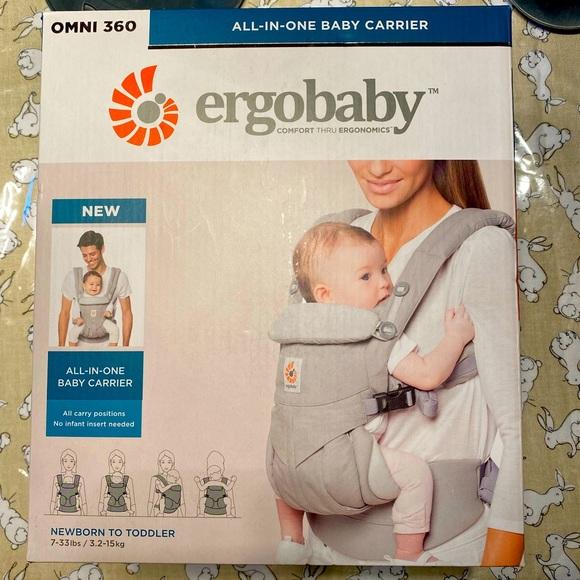 NWT ergobaby Omni 360 baby carrier pearl grey